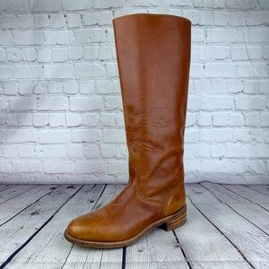 FRYE Tall Brown Boot Made In USA - LEFT BOOT